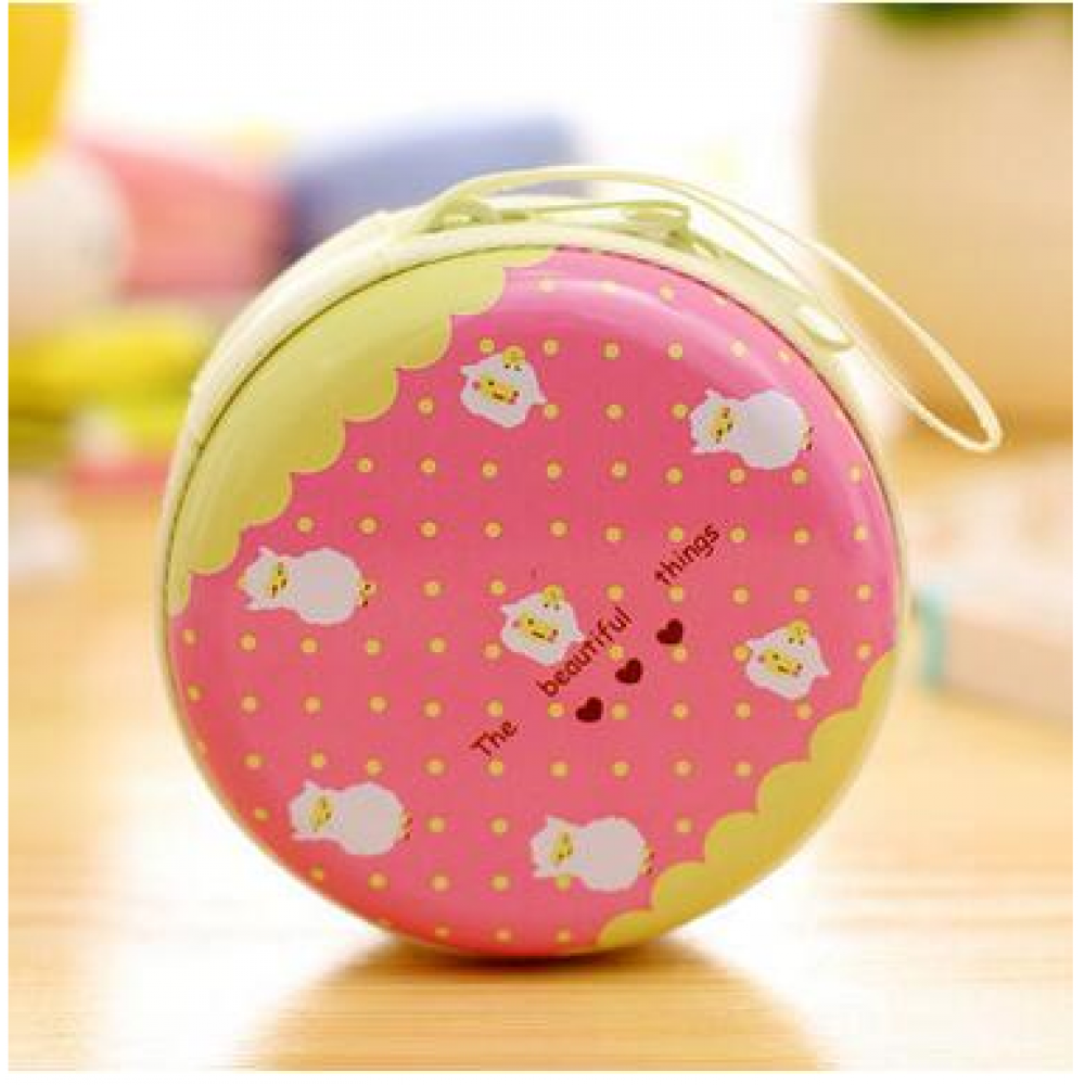 Alpaca Pink Coin Tin/Headphone Holder